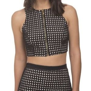 Whitney Eve crop top. Worn once. Size 4